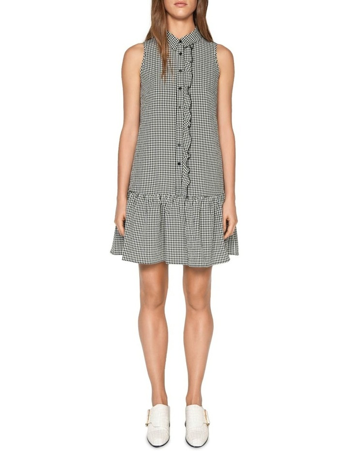 Crinkle Gingham Button Front Dress image 1