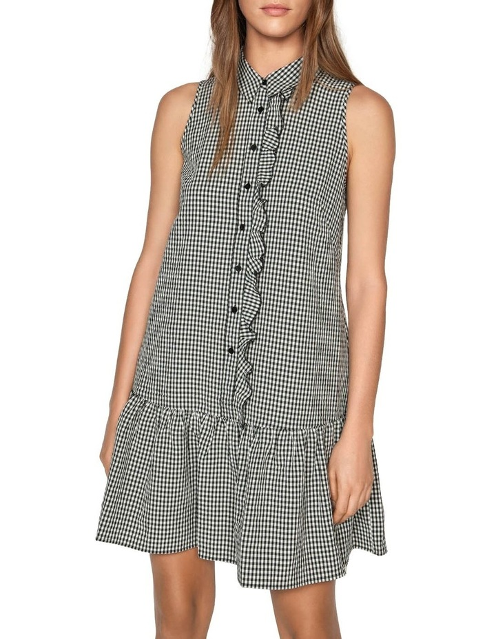Crinkle Gingham Button Front Dress image 2