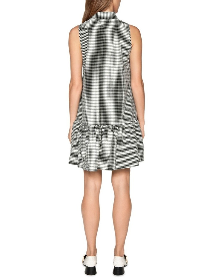 Crinkle Gingham Button Front Dress image 3