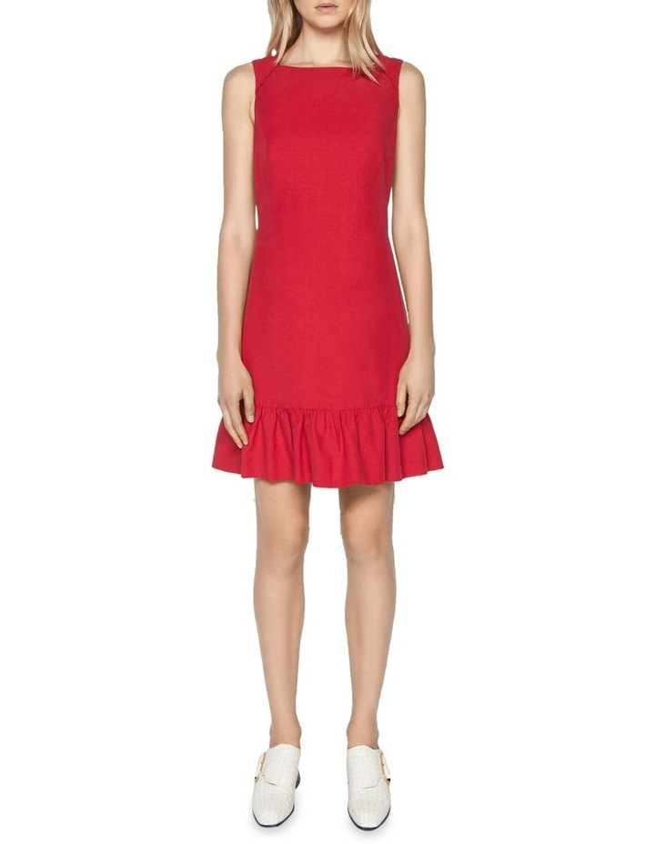 Linen Frilled Hem Dress image 1