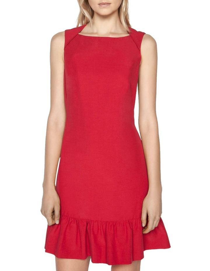 Linen Frilled Hem Dress image 2