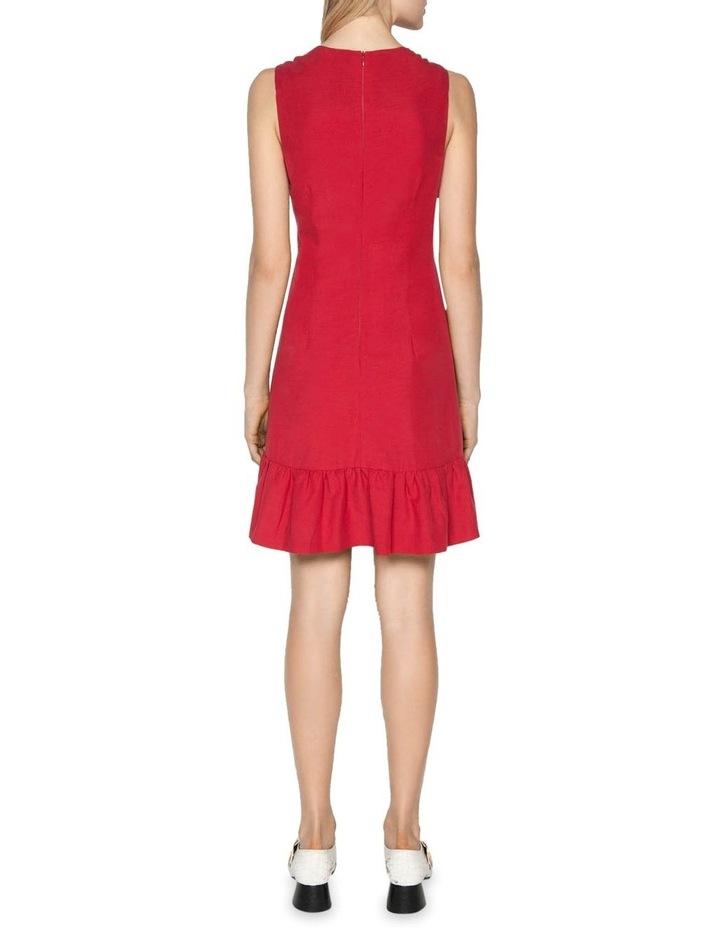 Linen Frilled Hem Dress image 3