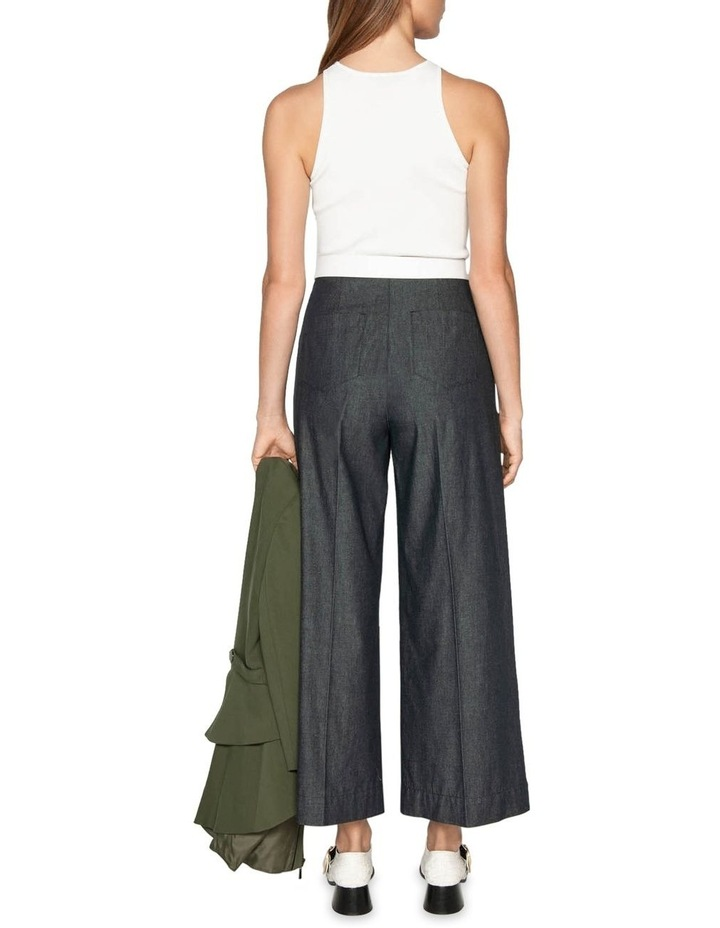 Topstitched Waist Tuck Trousers image 3