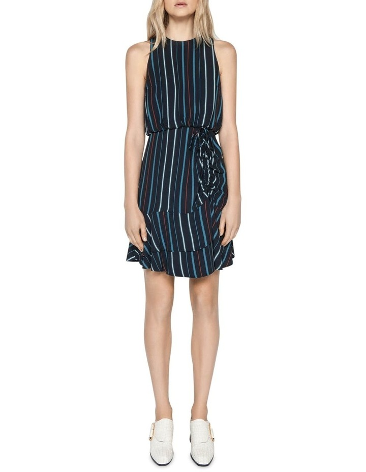 Striped Ruched Waist Dress image 1