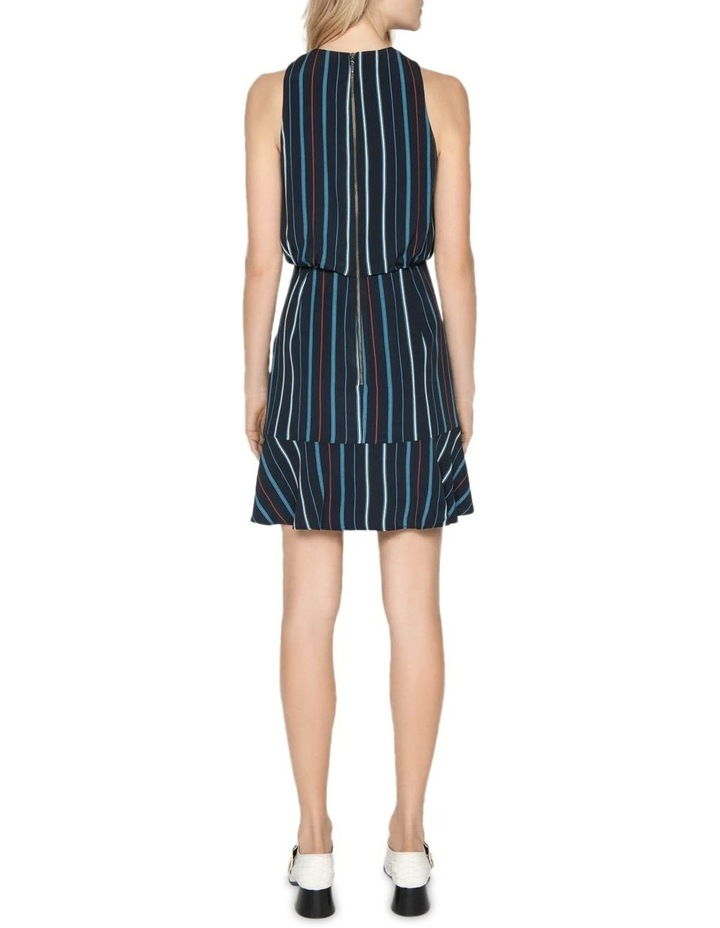 Striped Ruched Waist Dress image 3