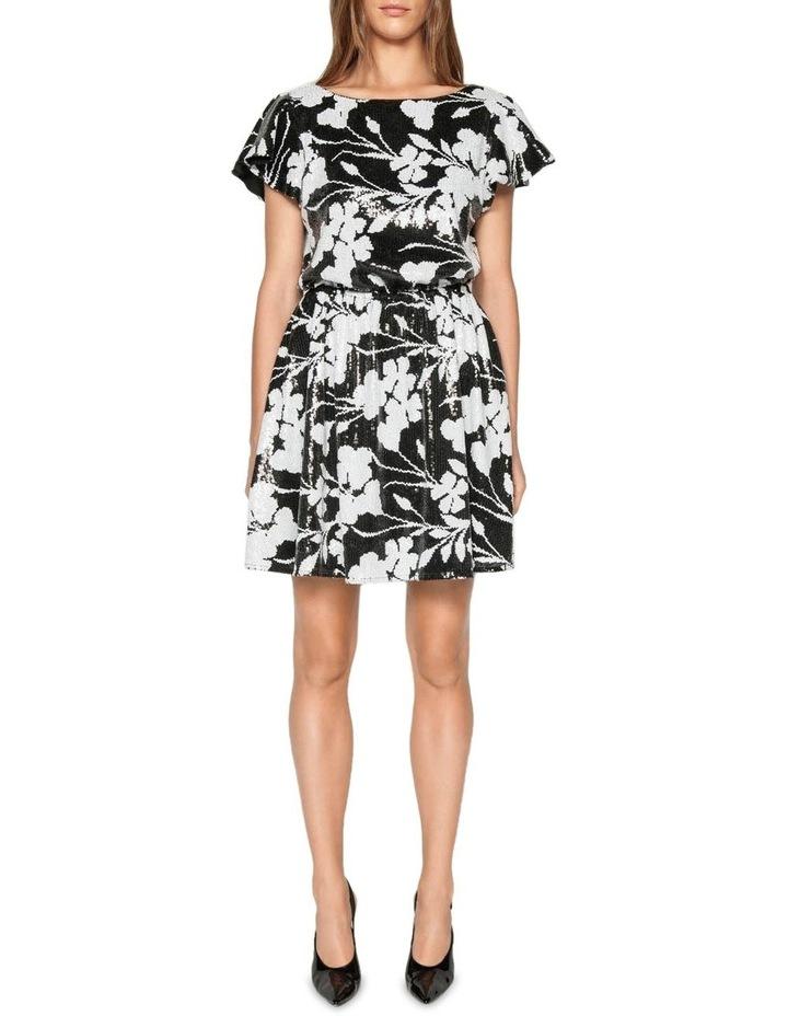 Monochrome Floral Sequin Dress image 1