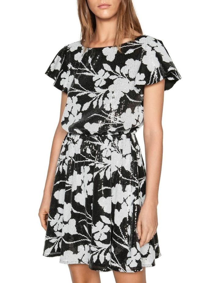 Monochrome Floral Sequin Dress image 2