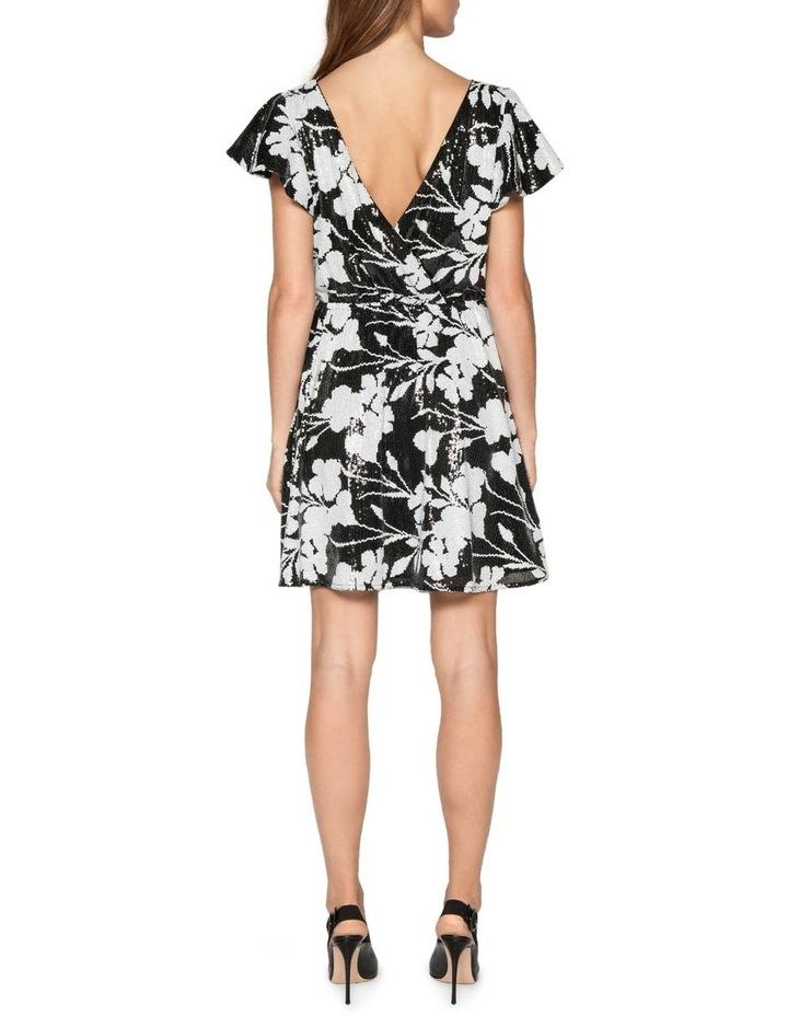 Monochrome Floral Sequin Dress image 3