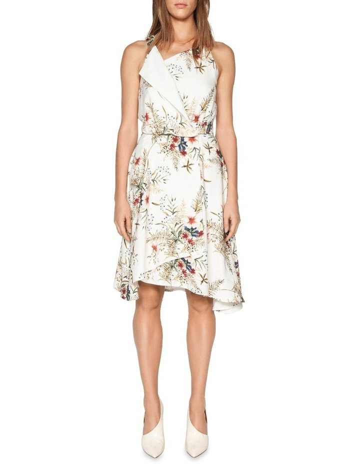 Illustrated Floral Wrap Dress image 1