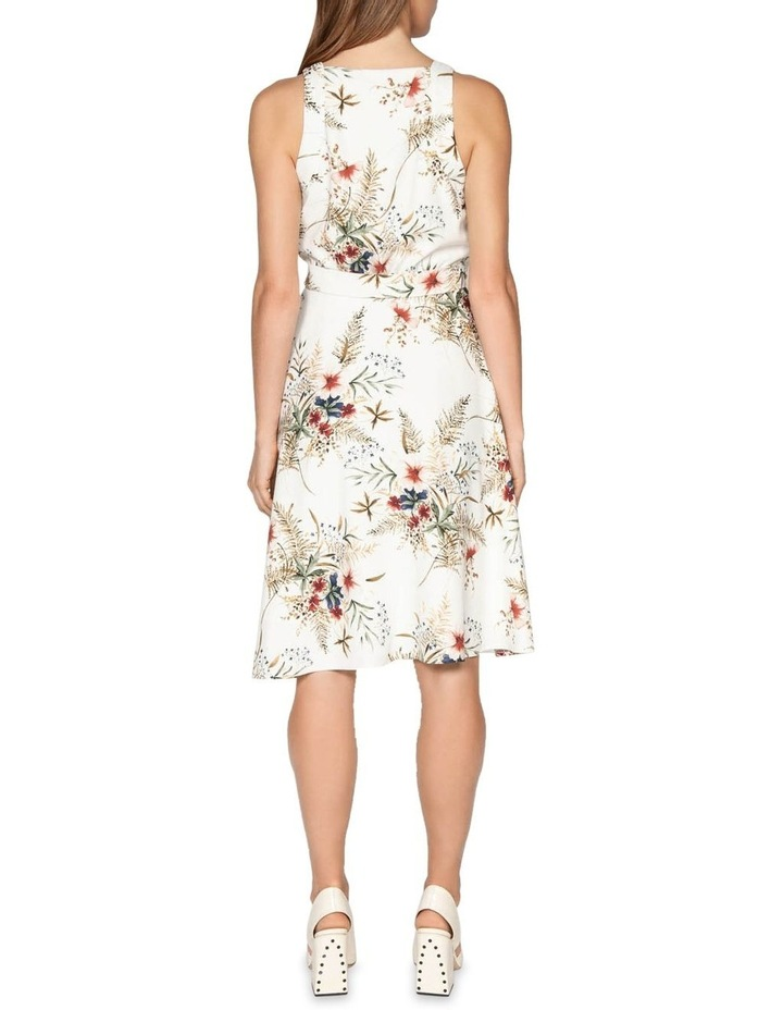 Illustrated Floral Wrap Dress image 3
