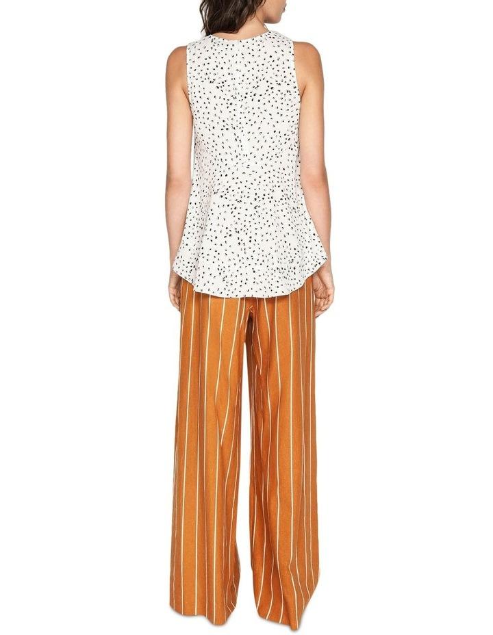 Linen Stripe Wide Leg Pant image 3