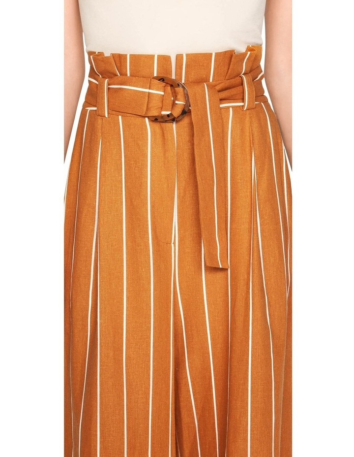 Linen Stripe Wide Leg Pant image 4