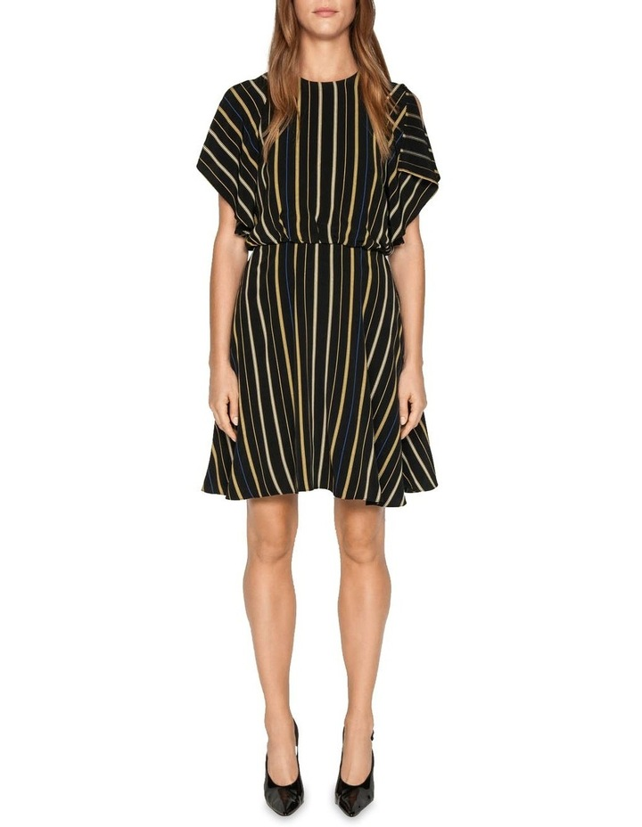 Stripe Fluted Split Sleeve Dress image 1