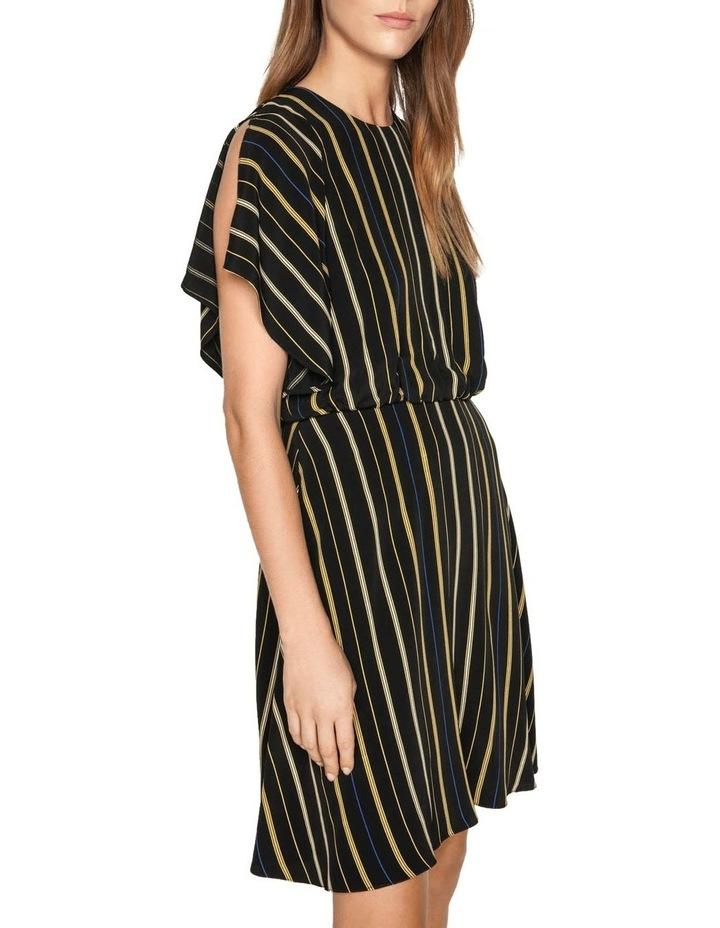 Stripe Fluted Split Sleeve Dress image 2