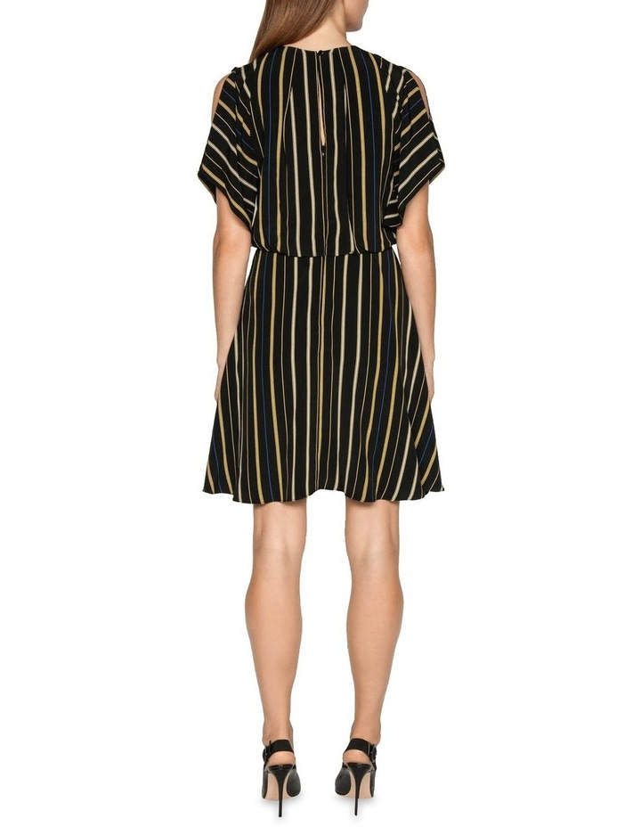 Stripe Fluted Split Sleeve Dress image 3