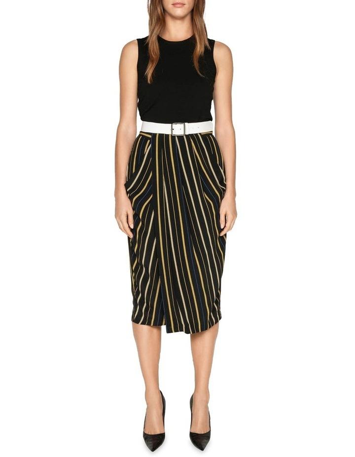 Stripe Draped Tulip Skirt image 1