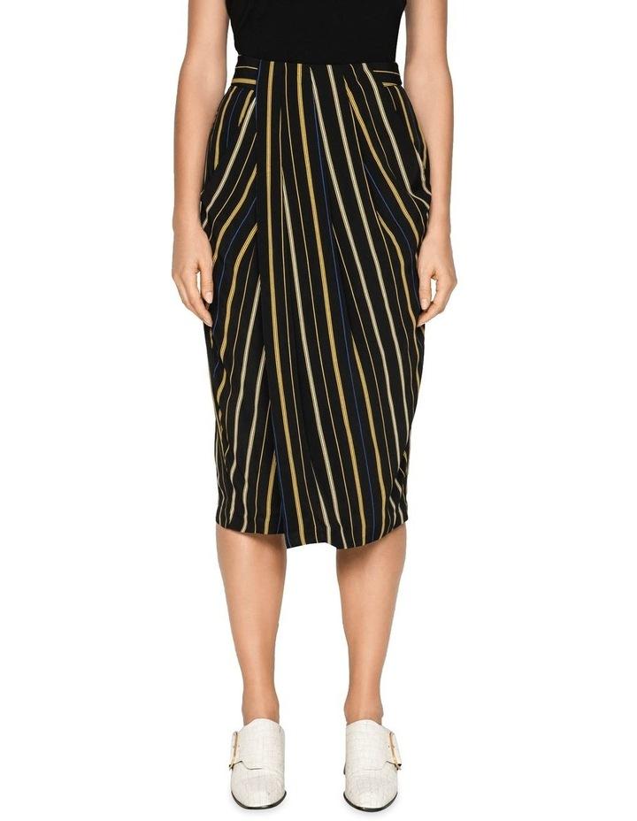 Stripe Draped Tulip Skirt image 2