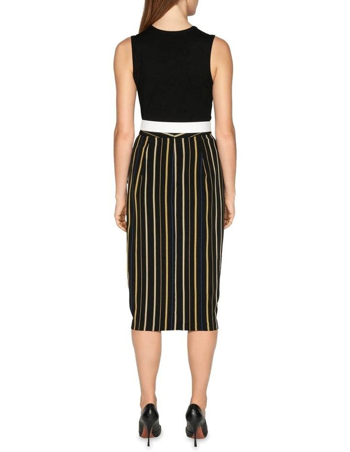 Stripe Draped Tulip Skirt image 3