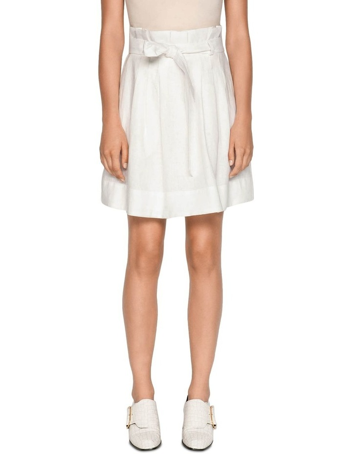 Belted Linen Skirt image 2