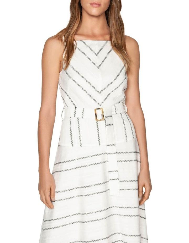 Jacquard Stripe Viscose Dress image 2