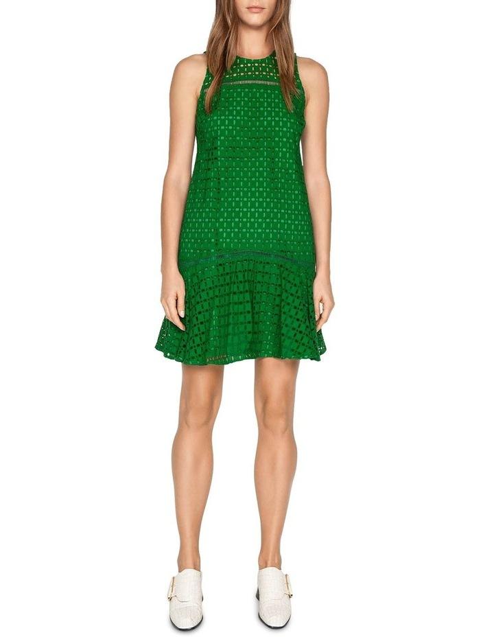 Geometric Broderie Trapeze Dress image 1