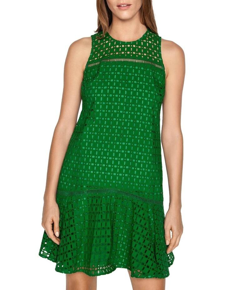 Geometric Broderie Trapeze Dress image 2