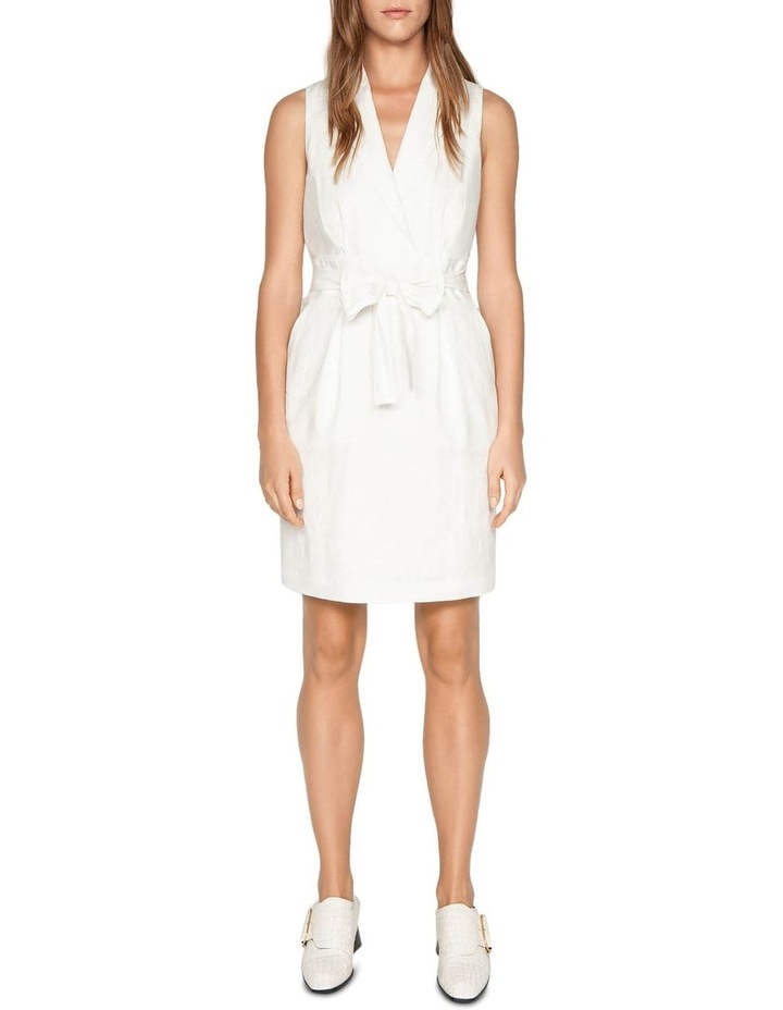 Linen Collared Wrap Front Dress image 1