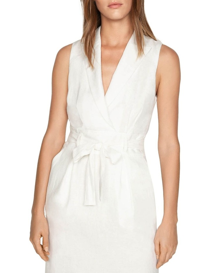 Linen Collared Wrap Front Dress image 2