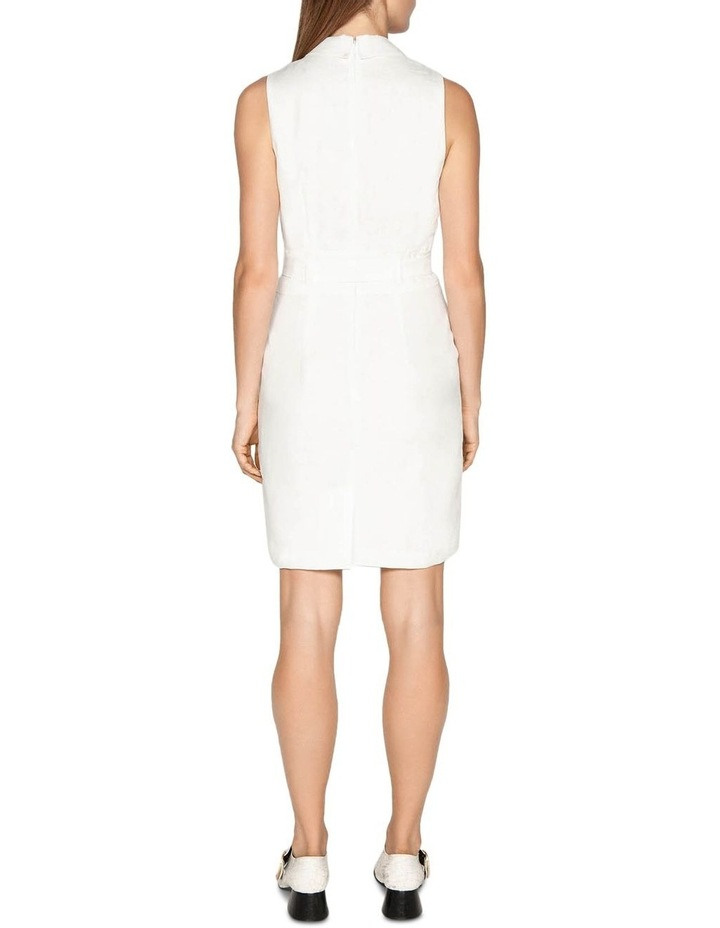 Linen Collared Wrap Front Dress image 3