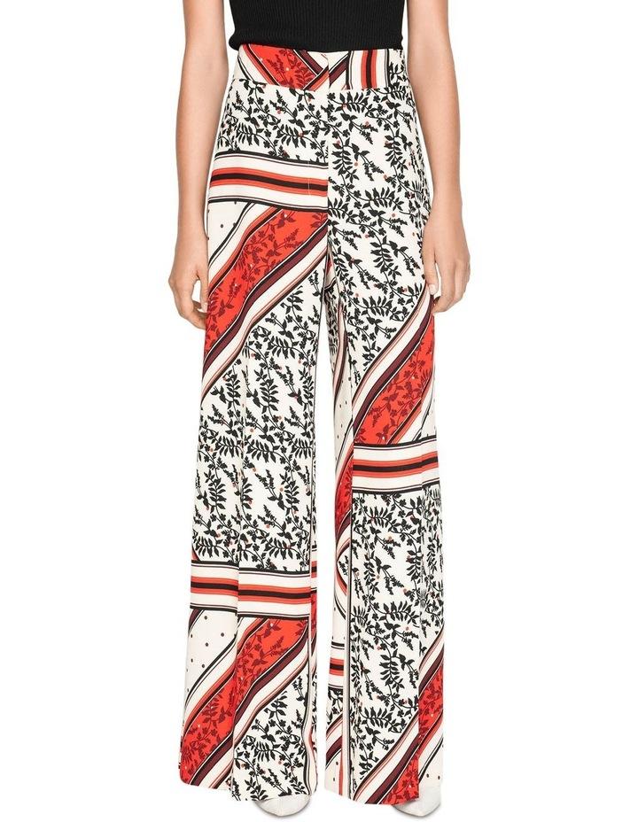 Scarf Print Wide Leg Pant image 2