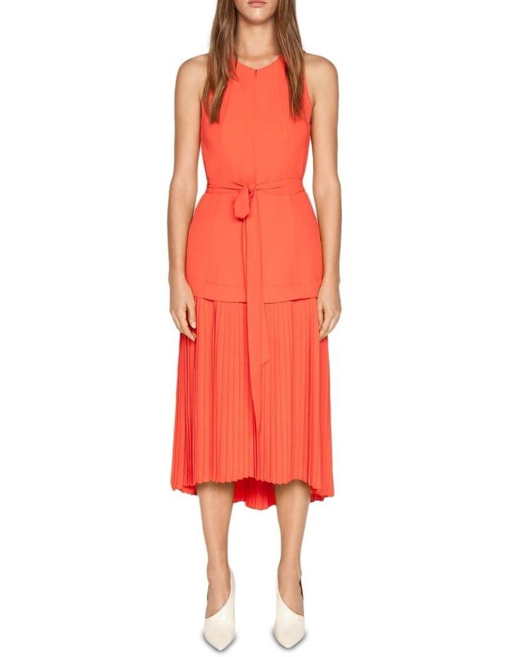 Crepe Pleated Hem Dress image 1