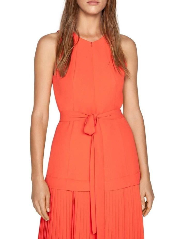 Crepe Pleated Hem Dress image 2