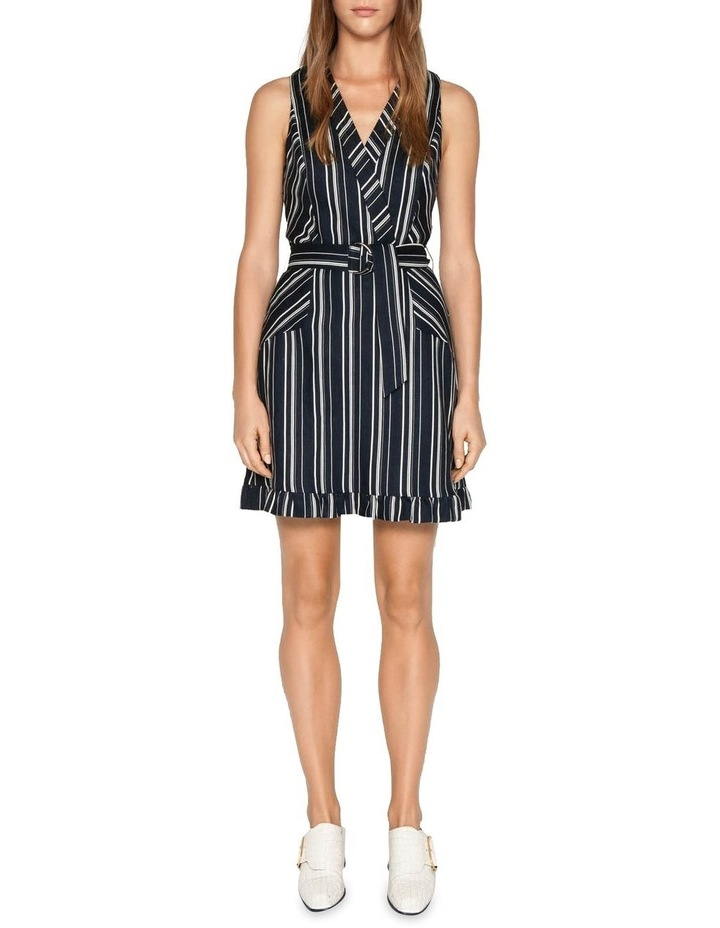 Linen Stripe Belted Dress image 1