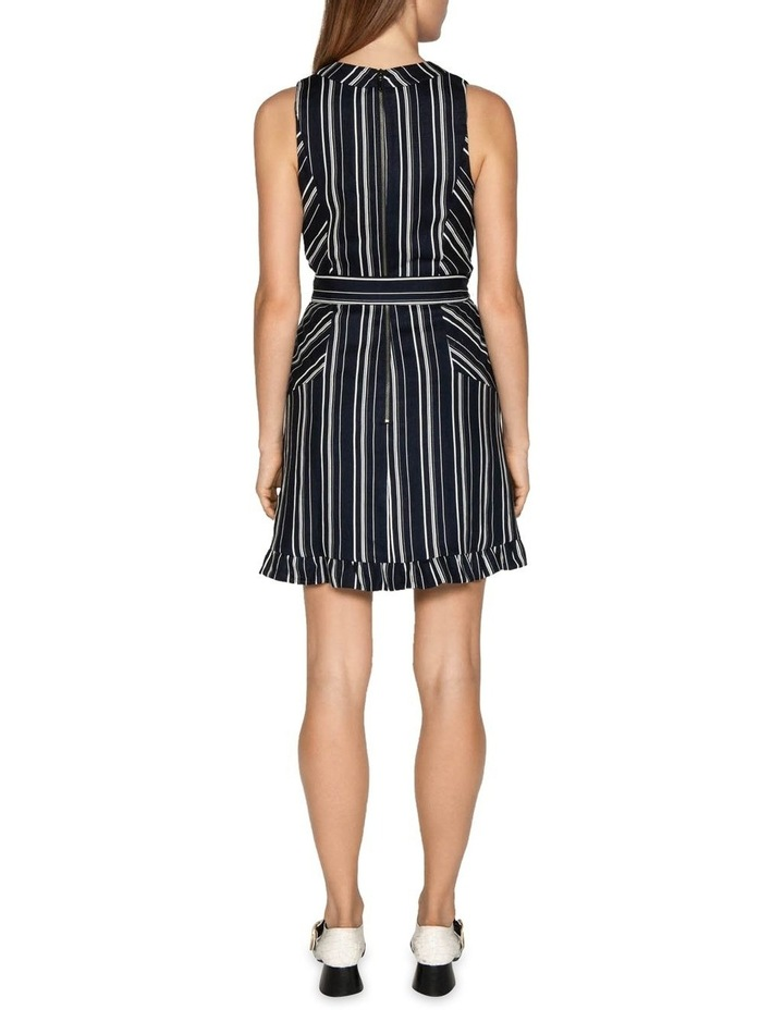Linen Stripe Belted Dress image 3