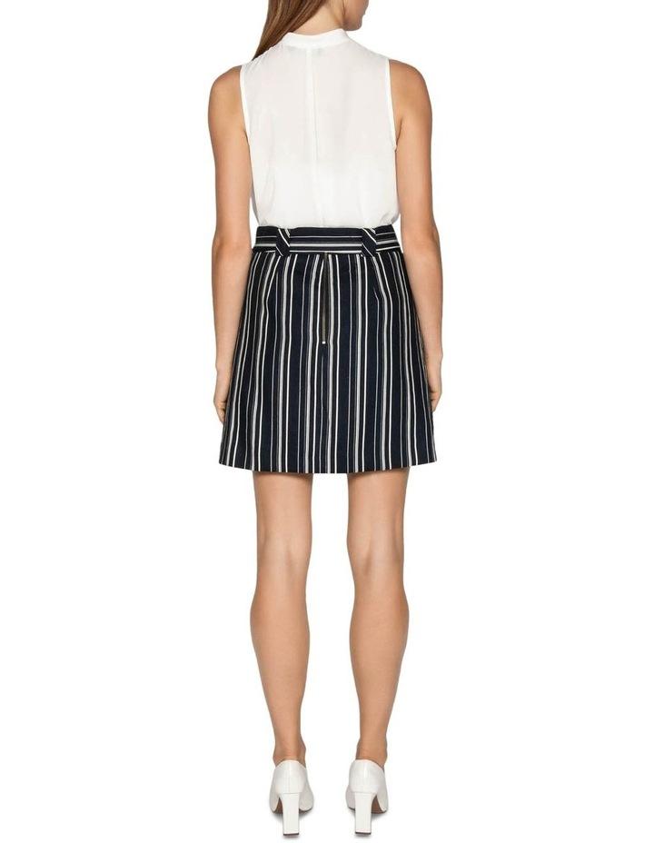Linen Stripe Belted Skirt image 3