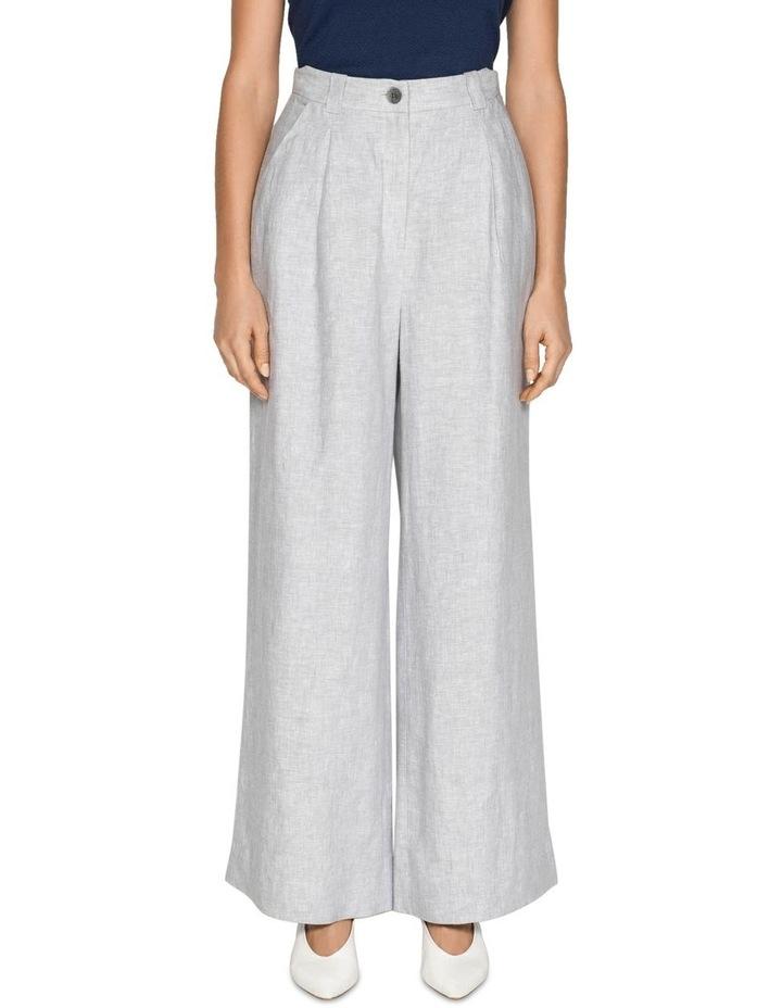 Grey Linen Wide Leg Pant image 2