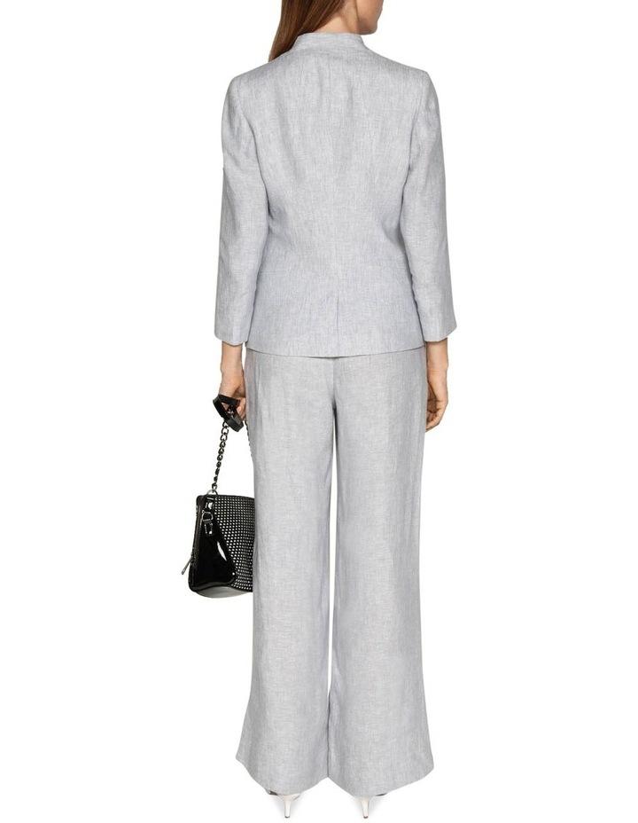 Grey Linen Wide Leg Pant image 3