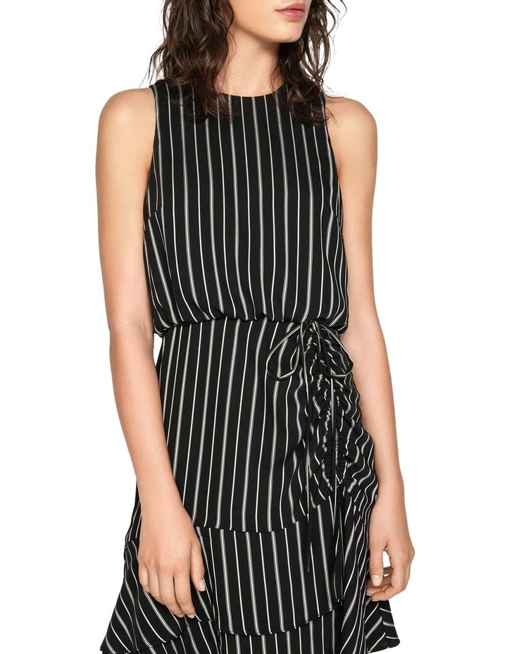 Striped Ruched Waist Dress image 2