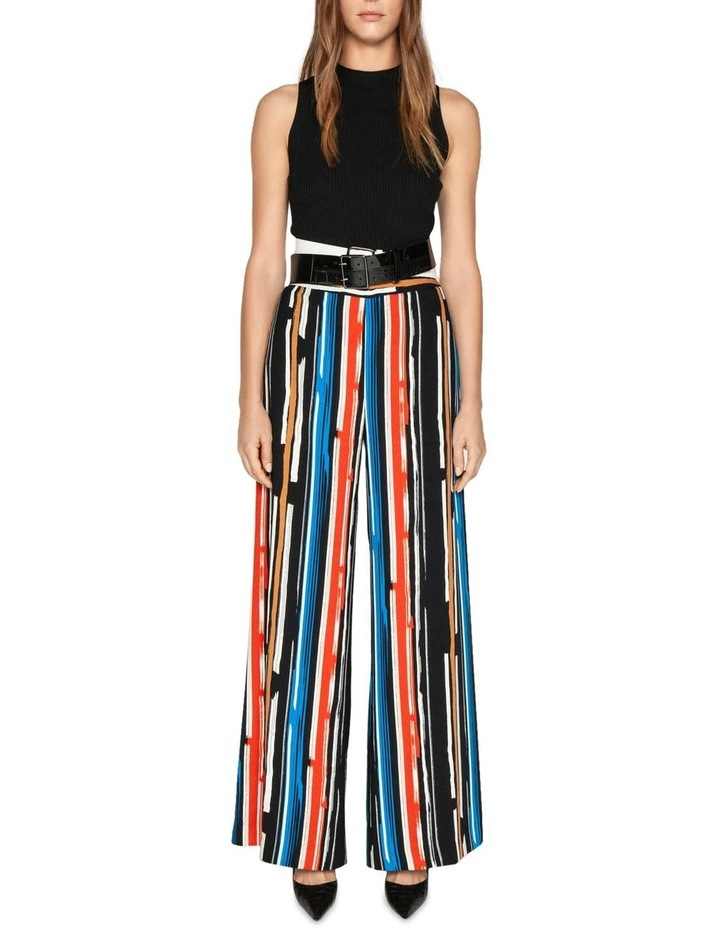 Painted Stripe Wide Leg Pant image 1