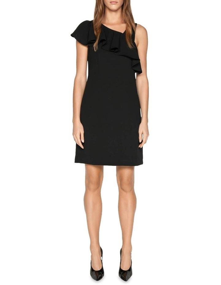 Crepe Asymmetric Frill Dress image 1
