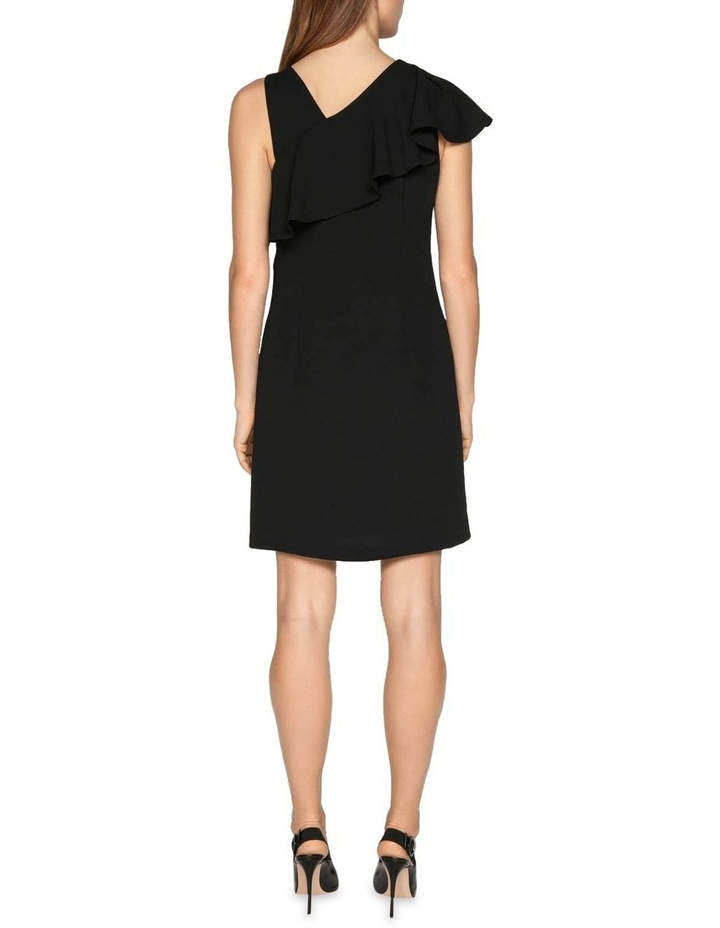 Crepe Asymmetric Frill Dress image 3