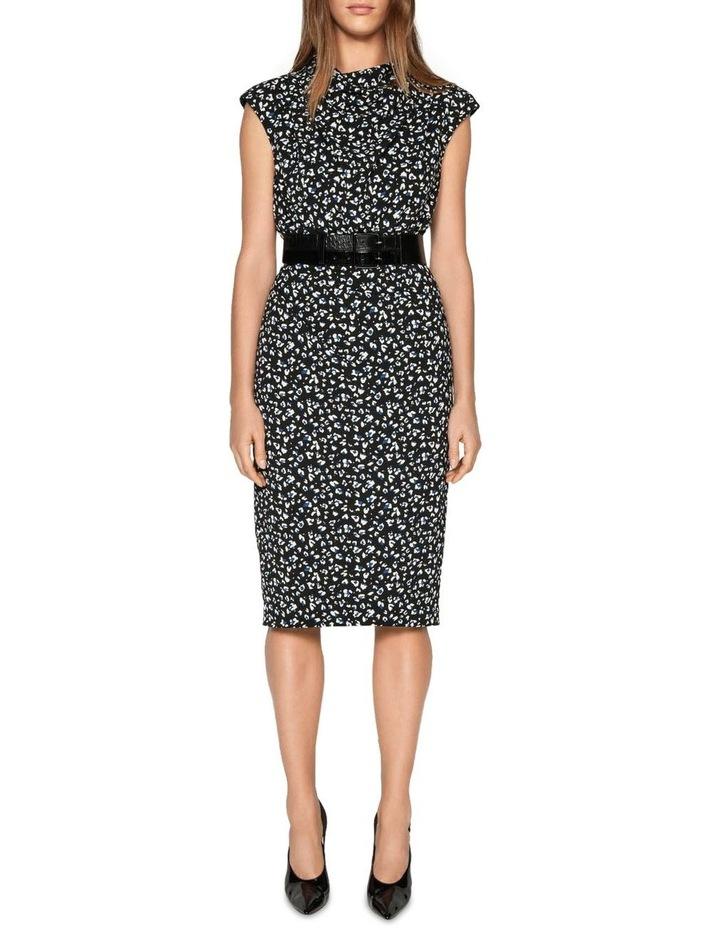 Leopard Georgette Pencil Dress image 1