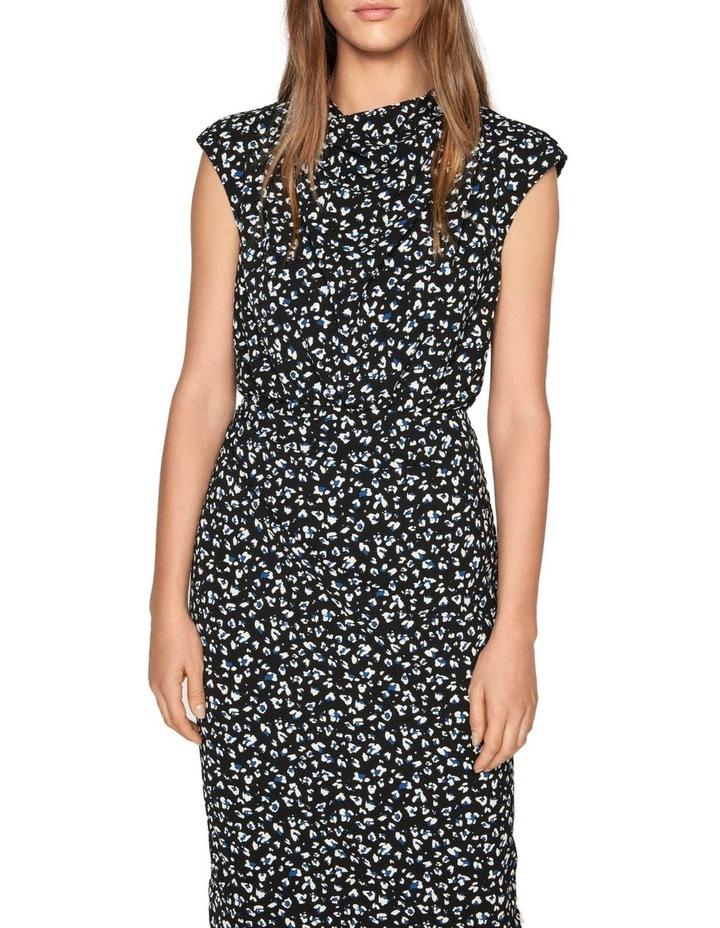 Leopard Georgette Pencil Dress image 2