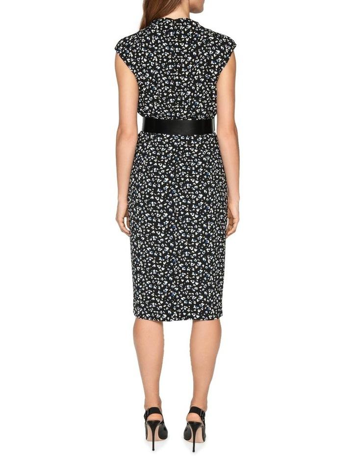 Leopard Georgette Pencil Dress image 3