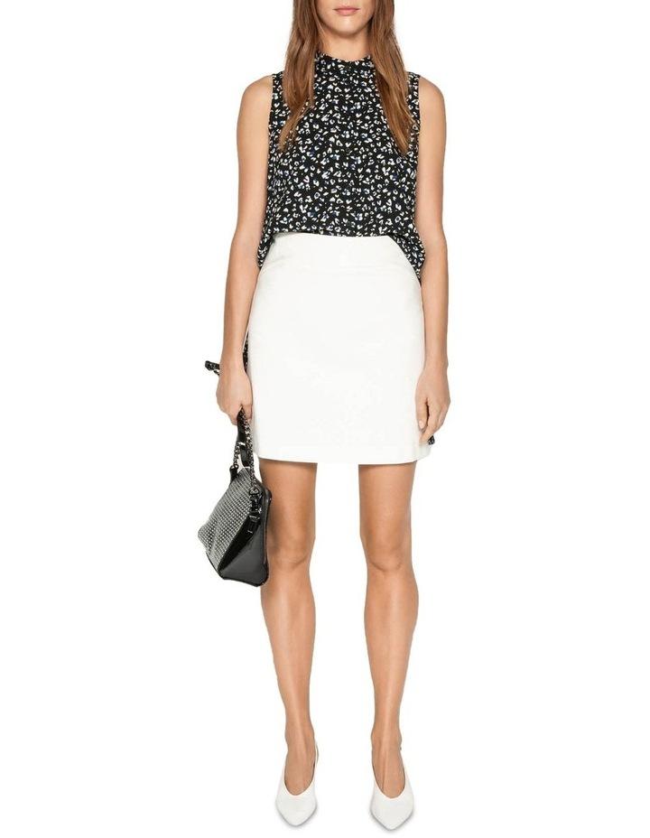 Leopard Georgette Step Hem Shirt image 1