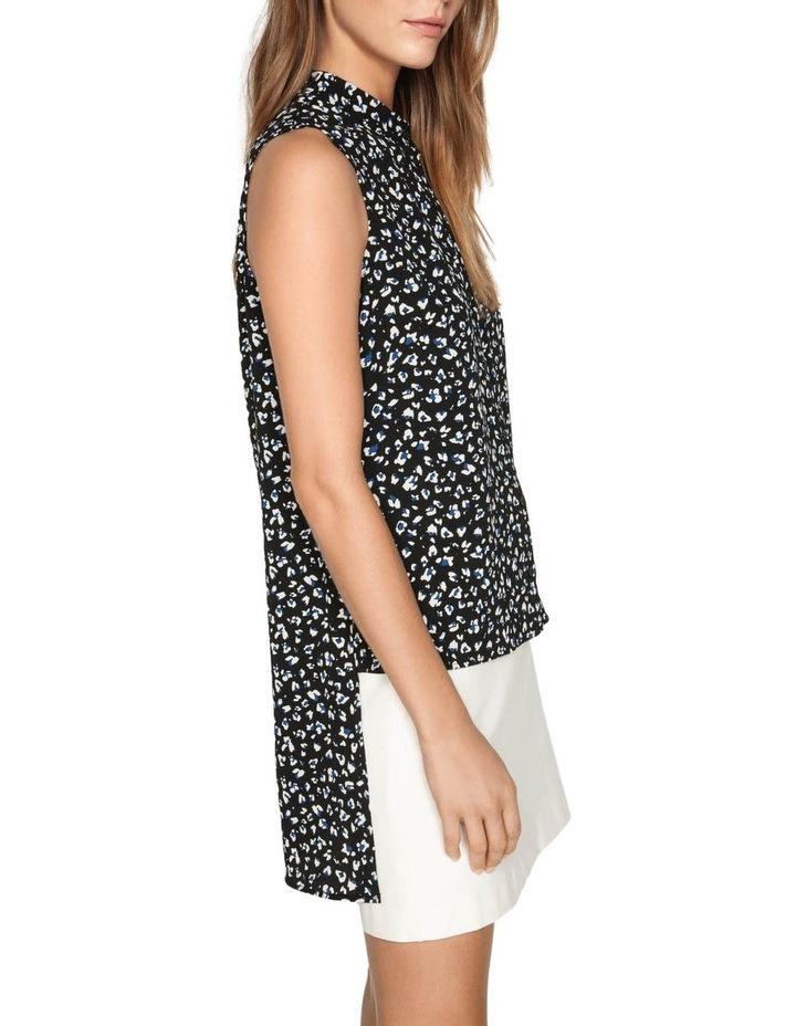 Leopard Georgette Step Hem Shirt image 2