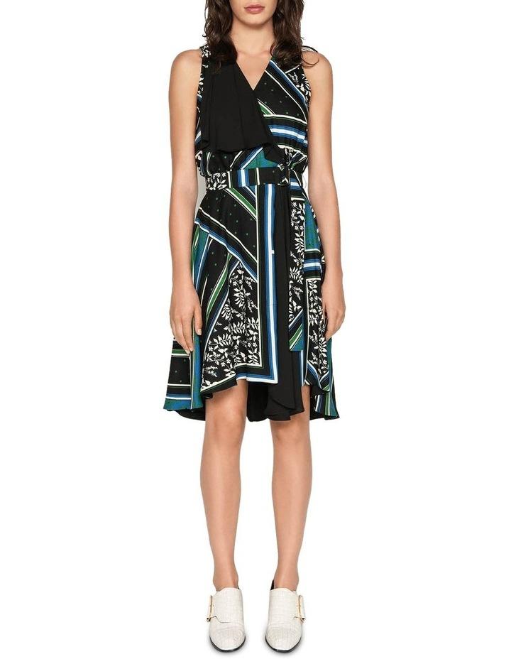 Scarf Print Wrap Dress image 1