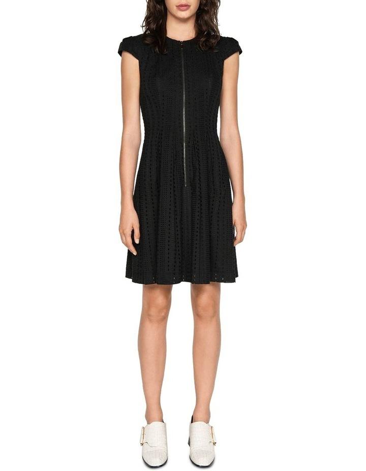 Stripe Broderie Zip Front Dress image 1