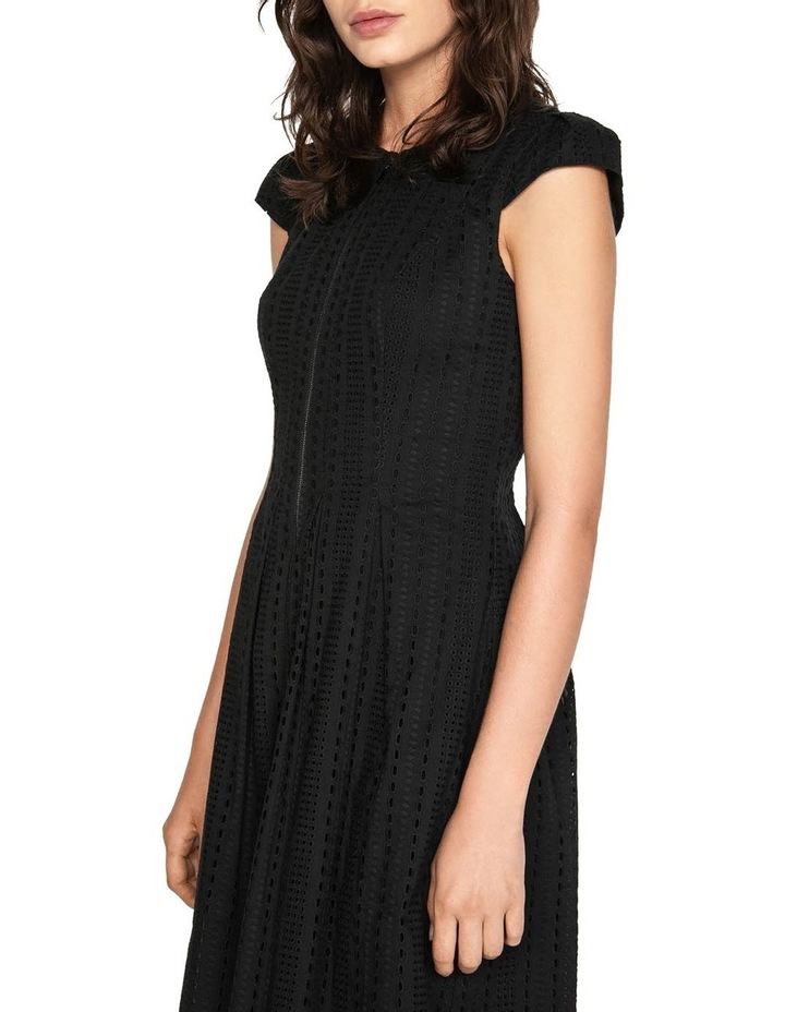 Stripe Broderie Zip Front Dress image 2
