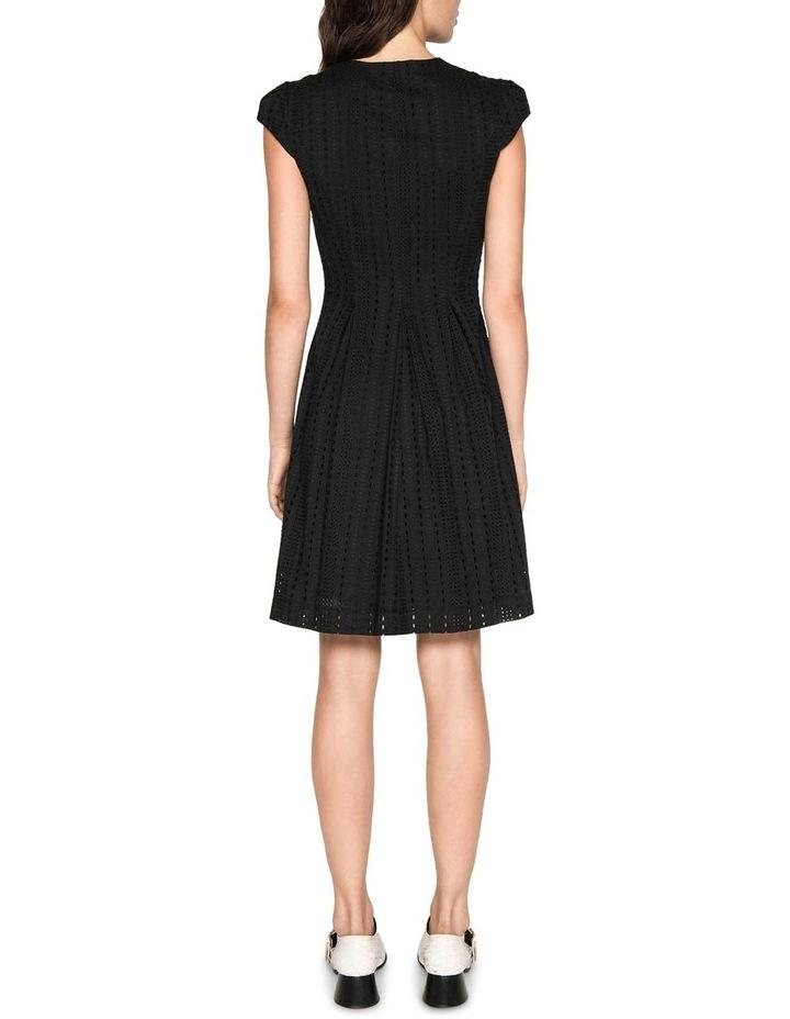 Stripe Broderie Zip Front Dress image 3